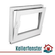 Kellerfenster Fenster Kunststoff 2-fach Verglasung Normalglas Weiß Premium