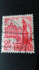 FRANCE 1947 OCCUPATION ALLEMAGNE BADE timbre 8 CHATEAU RASTATT oblitéré VF STAMP