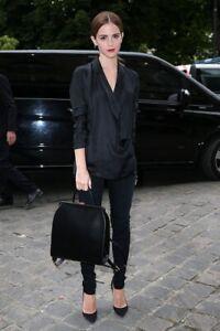 Lulu Guinness Black Polished Calf Backpack Large New (n1)
