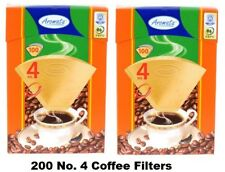 200 AROMATA Super Premium No 4 Coffee Filter Cones (2x100-packs) *FREE SHIPPING*