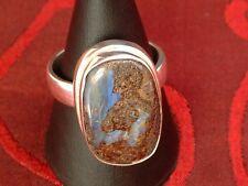Boulder Opal Ring - 24 x 16 mm - in Sterling Silber - 925 - Größe 61 - EXCLUSIV