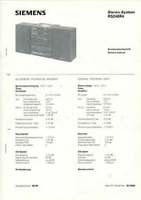 Siemens service manual istruzioni rs248r4 b1021