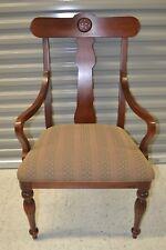 "Ethan Allen British Classics Dining Armchair Maple #29-6400A #260 Chair ""A"""