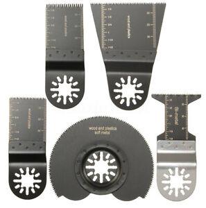 5pcs Mix Blades for Parkside Workzone Einhell Challenge AEG Multitool `,