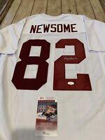 Ozzie Newsome Autographed/Signed Jersey JSA COA Alabama Crimson Tide HOF