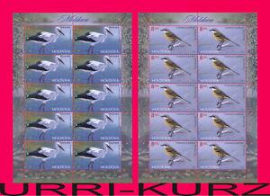 MOLDOVA 2014 Nature Fauna Birds White Stork, Western Yellow Wagtail 2 m-s MNH