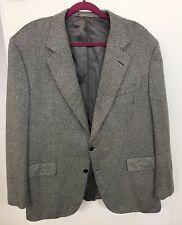 Chester Barrie 100% Cashmere Black Chevron, Blazer Sport Coat Size 46R