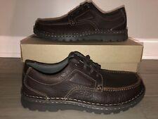 NEW Clarks Vanek Apron Brown Oily Oxford Casual Shoes Men's size 9 Medium