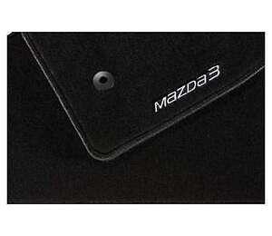 Genuine Mazda 3 BM Luxury Car Mats 2013 Onwards -In Black BLD2V0320