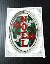 """Sun Catcher Suncatcher Christmas 8"""" Glass Art Stained Noel Xmas Joan Baker Decor"""