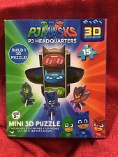 Disney Junior PJ Masks Jigsaw 3D Puzzle 15pc NEW - Headquarters With Characters