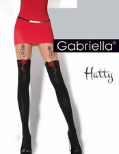 "Gabriella Collants Fantaisie Noir Rouge ""hatty"" Taille 4 L"