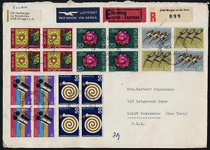 Switzerland 524-9 on registered cover - Intelsat 4 Satellite, Stamp on Stamp