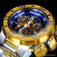 Invicta Reserve Subaqua Sea Dragon Swiss Movt Two Tone Steel Blue Watch New
