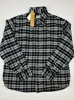 Jachs Men's Long Sleeve Flannel Brawny Flannel Shirt, Size 2XL,Black And White