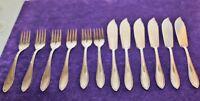 Oka Fischbesteck f. 6 Personen 100 Silber und 1 Beilagenlöffel