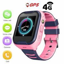 Montre GPS Enfant IPX7 Etanche 4G Android Caméra SOS Réveil Tracker 680MAH rose