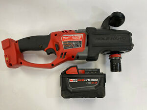 Milwaukee M18 FUEL Brushless Hole Hawg Right Angle Drill 2708-20 + Battery 9.0Ah