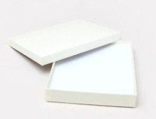 48 LARGE CREAM GIFT BOX QUALITY JEWELLERY NECKLACE LARGE LETTERBOX SIZE BOXES
