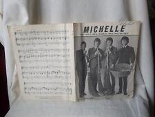 "THE BEATLES SHEET MUSIC ""MICHELLE"" NORTHERN SONGS LTD.LENNON & McCARTNEY 1965"
