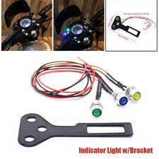 Motorcycle Speedometer Odometer LED Indicator Light w/Bracket Universal FOR 12V