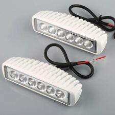 Set of 2 White Spreader Led Marine Lights for Boat Flood Light 12v