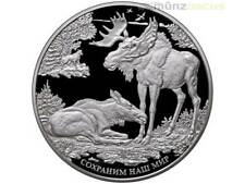 100 RUBLOS SAVE OUR WORLD Alce RUSIA 1 kilo kg plata plata pp 2015