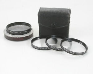 LOT OF FOUR 55MM FILTERS. POLARIZER AND #1, #2, #4 CLOSE UP SET/175338