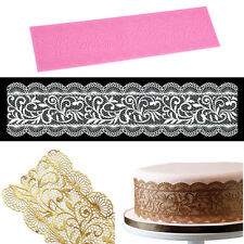 New Flower Silicone Lace Impression Mold Cake Decor Bake Emboss Mat Mould Craft
