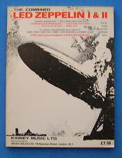 Led Zeppelin 1 & 2 (i / ii) 1970 Original Songs Lyrics Sheet Music Guitar chords