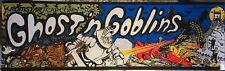 "Ghost'n Goblins Romstar/Capcom Arcade Marquee 26"" x 8"""