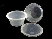 SATCO  8oz Round Clear Plastic Satco Microwaveable Containers
