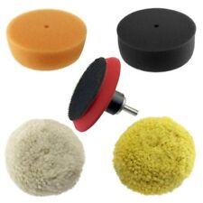 "5pc Ultimate 3"" Car Buffing & Polishing Pad Kit Foam Wool Pads with Adapter"