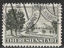 Theresienstadt stamps 1944 Perforated stamp cancelled JANOWIC(Poland)