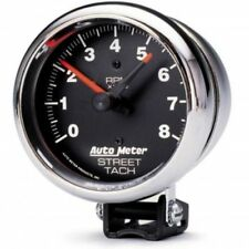 "Auto Meter 2895 3-3/4"" Traditional Chrome Street Tachometer Gauge, 0-8,000 RPM"