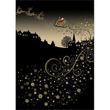 Bug Art Christmas Greeting Card - ROOFTOP SLEIGH - BA-X-MC037