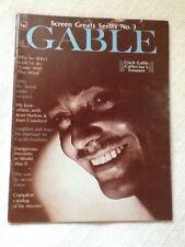SCREEN GREATS SERIES No. 3 CLARK GABLE COLLECTOR'S TREASURE  1971 Magazine