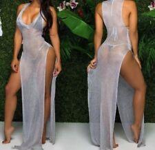 Sexy Strandkleid Sommerkleid Neu Grau Gr.M•L