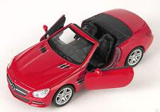 BLITZ VERSAND Mercedes SL 500 Cabrio 2012 rot red Welly Modell Auto 1:34 NEU OVP