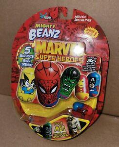 MIGHTY BEANZ MARVEL SUPER HEROS - Series 1  Includes 5 Beanz