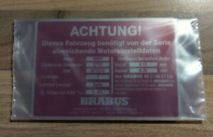 Mercedes Benz Brabus AB3 AB4 3.6 Typschild Motorraum W124 W463 W201 M103 M104