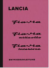 Lancia Flavia Bedienungsanleitung Betriebsanleitung Handbuch Owner's Manual