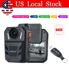 64GB Security Guard Police Body Camera Night Vision Camcorders w/ Remote Control