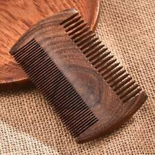 Green Sandalwood Pocket Beard Hair Combs 2 Size Handmade Natural Wood Comb US
