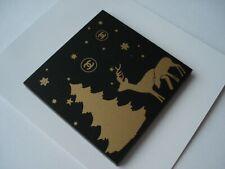 CHANEL VIP gift magnet charm badge  Holiday deers tree plastic rare