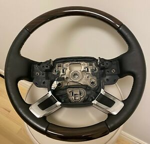 Land Rover OEM Range Rover L405 2013+ Ebony Macassar Wood Heated Steering Wheel