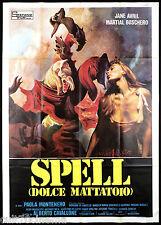 SPELL DOLCE MATTATOIO MANIFESTO FILM CAVALLONE UOMO DONNA BESTIA 1971 POSTER 4F