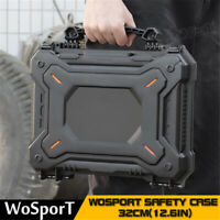 Tactical Gun Pistol Camera Protective Safety Case with Foam Padded+Safety Lock