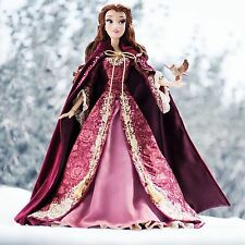 "DISNEY STORE EXCLUSIVE LE BEAUTY AND THE BEAST 17"" WINTER BELLE DOLL CHRISTMAS"