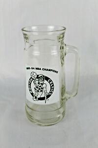 Boston Celtics 1983 - 84 NBA Champions Glass Beer Mug Vintage Basketball 22 Oz